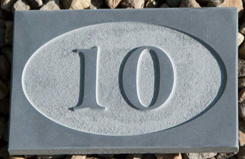 Online Sign Maker Slate House Numbers Signs
